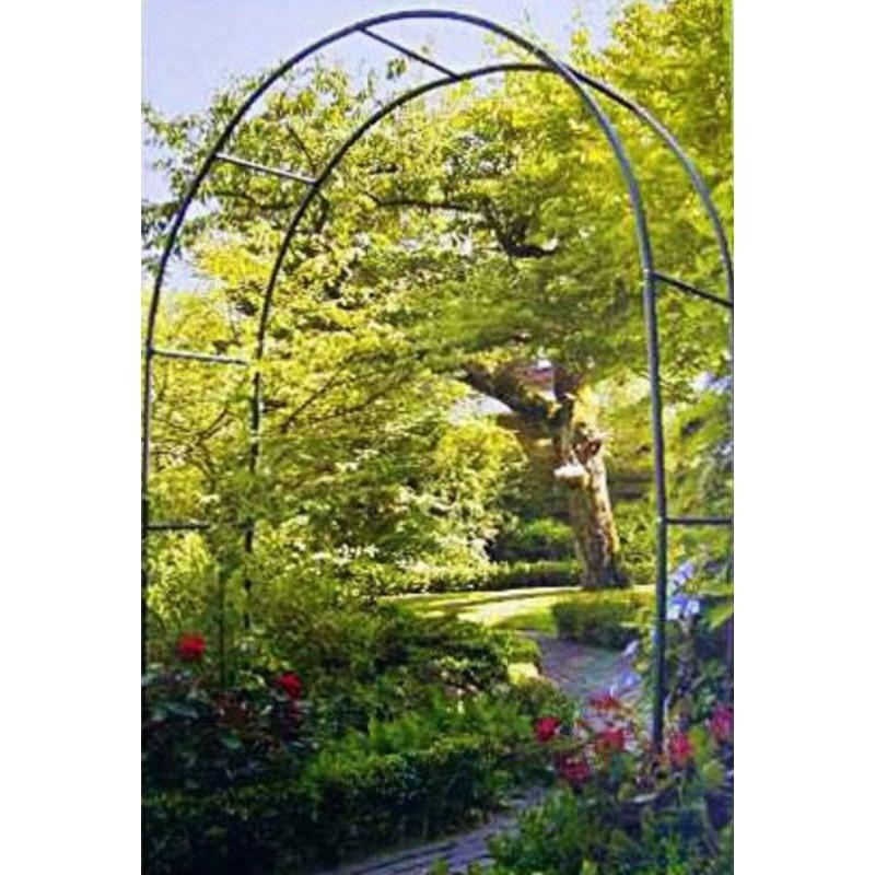 Arco per rampicanti e rose da giardino in ferro verniciato for Piante rampicanti finte