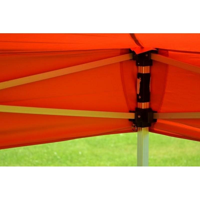 Gazebo pieghevole professionale in alluminio per fiere 6x3 arancione