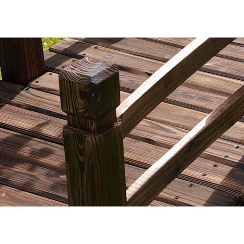 Ponte in legno per giardino e laghetto artificiale for Arredo esterno in legno