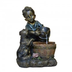 Fontana da giardino decorativa modello bambino