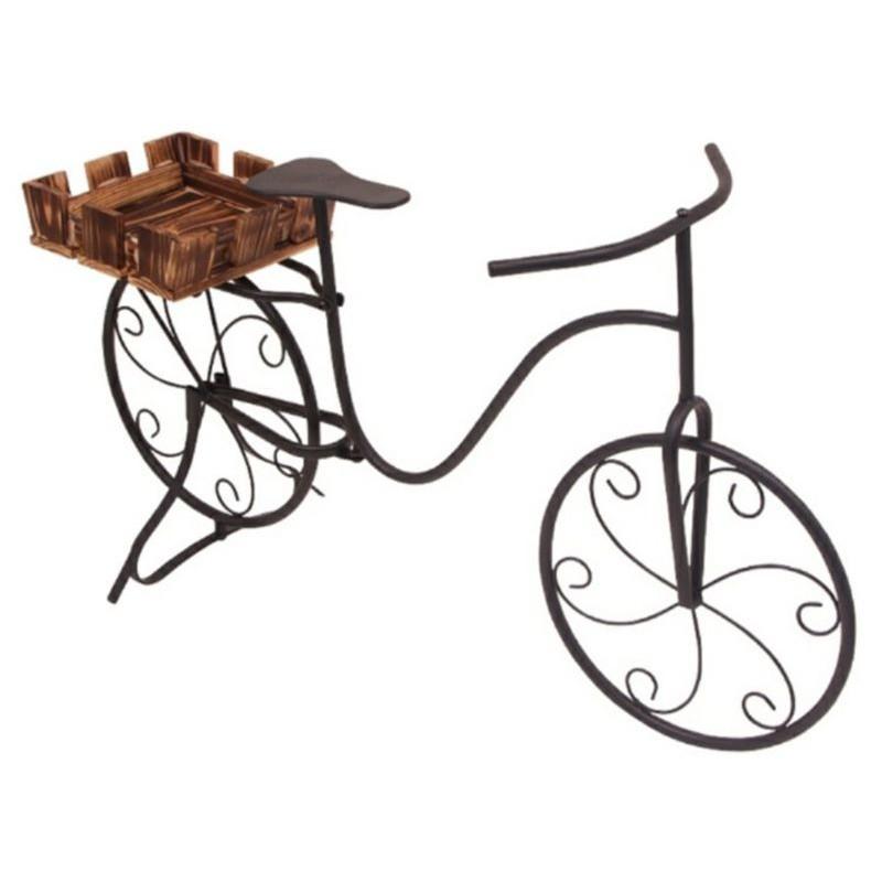 Fioriera portavasi da interno, esterno e balcone modello bici