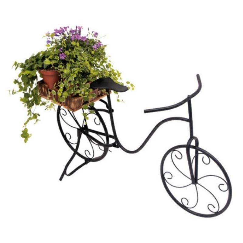 Fioriera portavasi da interno esterno e balcone modello bici for Portavasi da balcone regolabili
