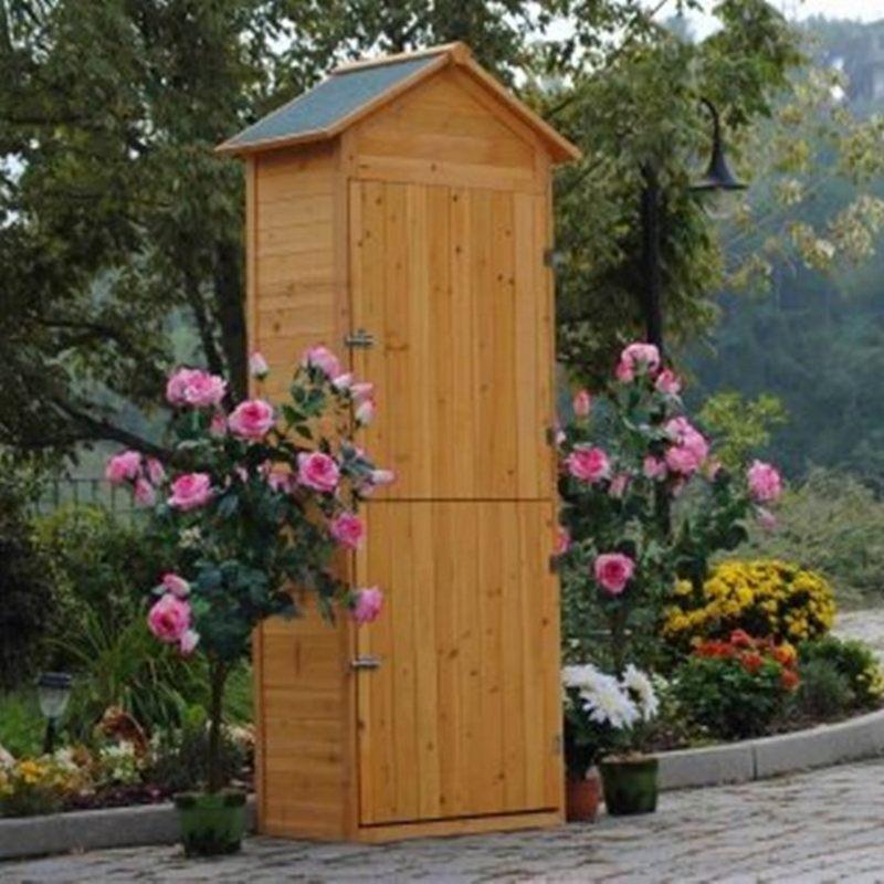 Armadio in legno da esterno porta attrezzi per giardino e terrazzo - Porta attrezzi da giardino in legno ...