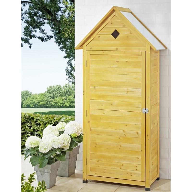 Armadio da esterno in legno portascope e attrezzi per balcone for Mobili da terrazzo in legno