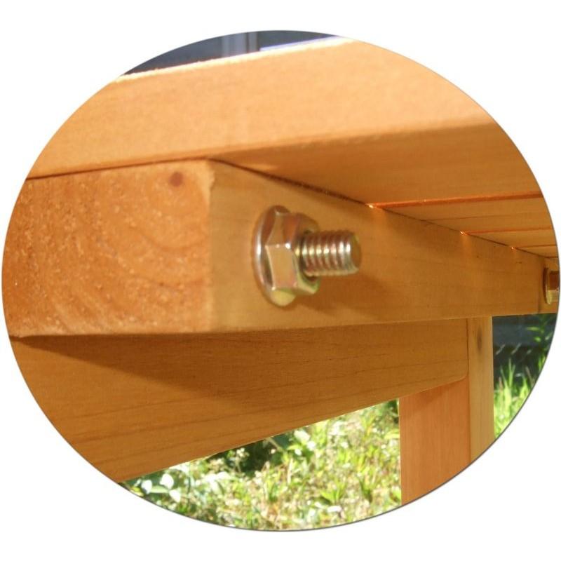 Banco da lavoro in legno da esterno per giardinaggio e fai for Cose da giardinaggio