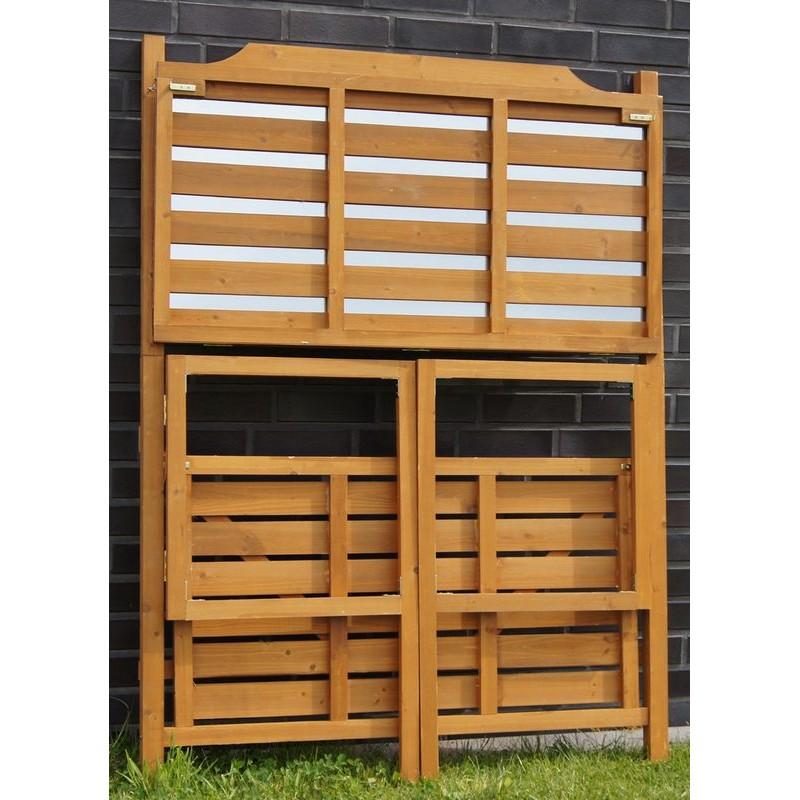 Banco da lavoro in legno pieghevole per giardinaggio e fai for Bancone in legno fai da te