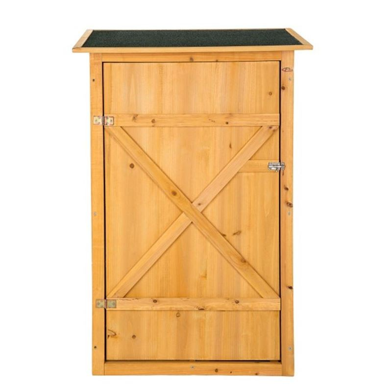 Armadietto in legno da esterno porta attrezzi per giardino - Porta piante da esterno ...