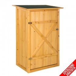 Armadietto in legno da esterno porta attrezzi
