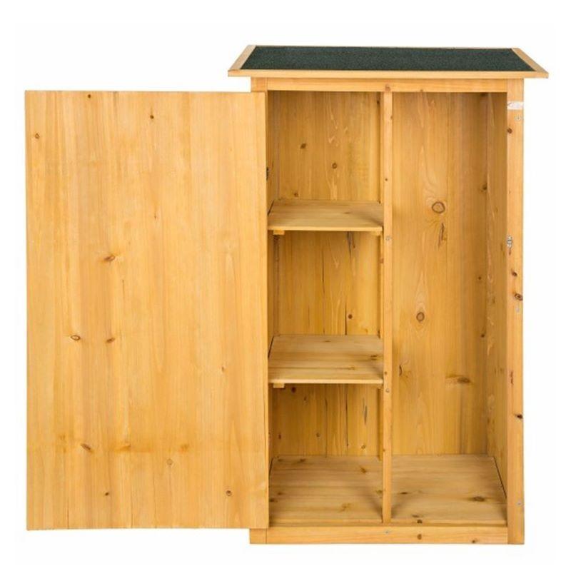 Armadietto in legno da esterno porta attrezzi per giardino e balcone - Porta attrezzi da giardino in legno ...