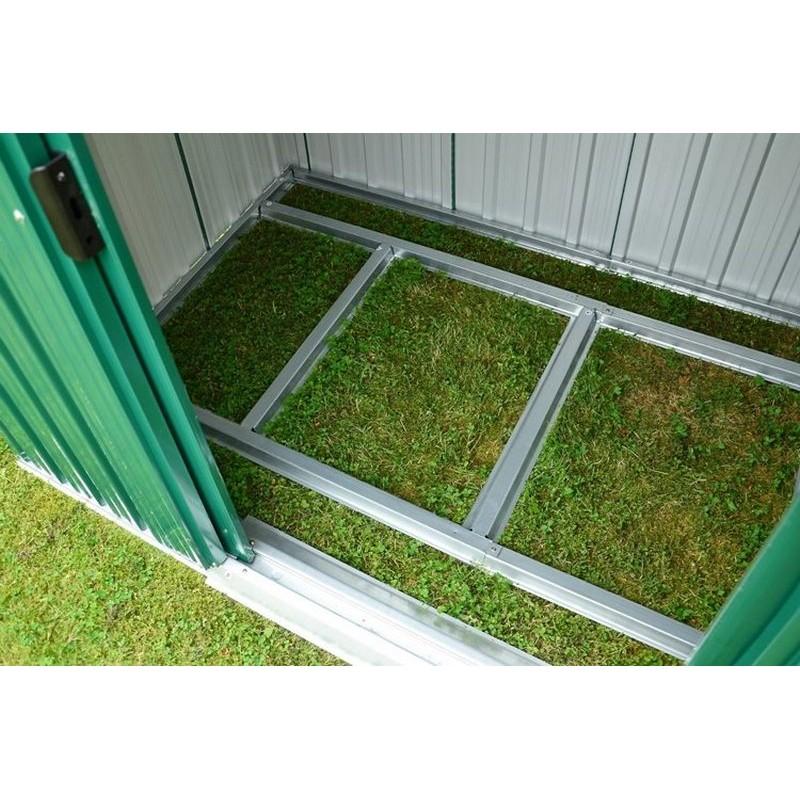 Casetta porta attrezzi in lamiera da giardino con tetto ad - Attrezzi da giardino per bambini ...