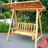 Dondolo da giardino in legno 2 posti con tettoia