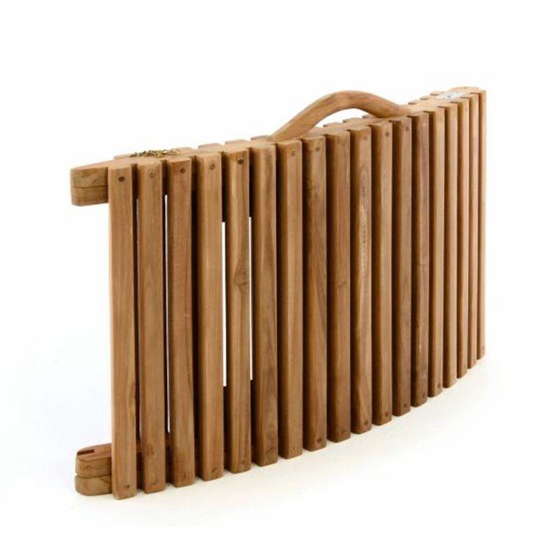 Lettino prendisole in legno di teak pieghevole portatile - Lettino giardino ...