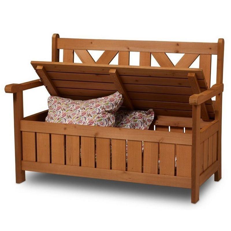 Panchina contenitore da esterno e cassapanca in legno per for Cassapanca per balcone