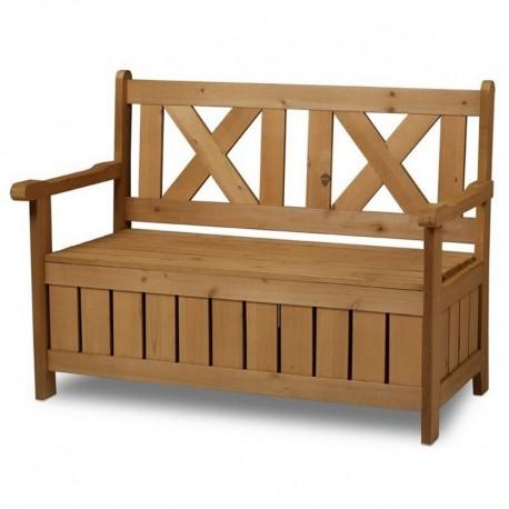 Panchina contenitore da esterno e cassapanca in legno per for Ikea panca contenitore