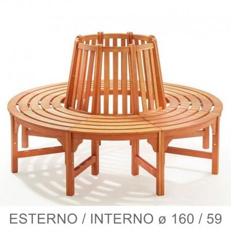 Panchina circolare in legno da giardino per giro albero
