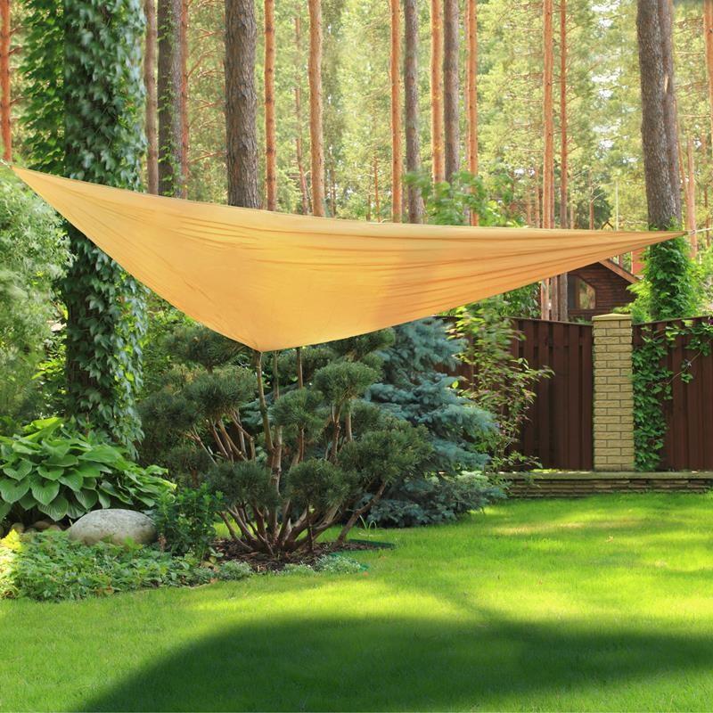 Vele ombreggianti triangolari da giardino in poliestere beige - Vele da giardino ikea ...