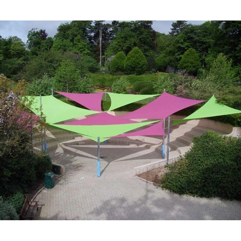 Vele ombreggianti triangolari da giardino colorate da 3 6 metri - Vele ombreggianti da giardino ...