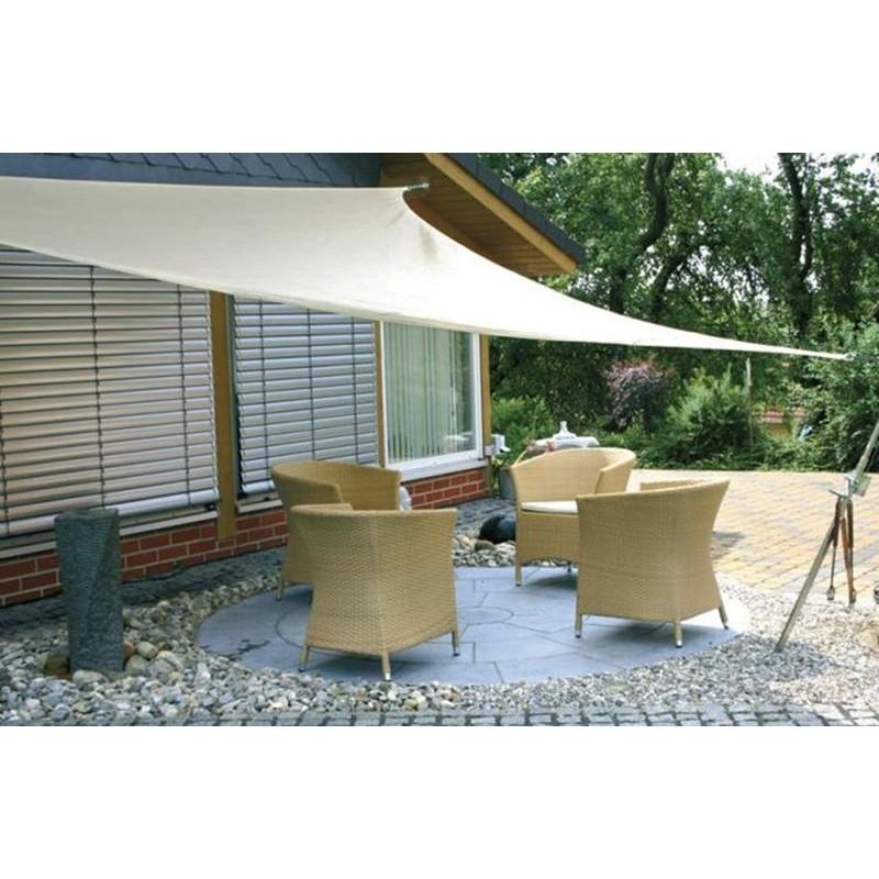 Vela ombreggiante triangolare da giardino hdpe traspirante for Tenda ombreggiante