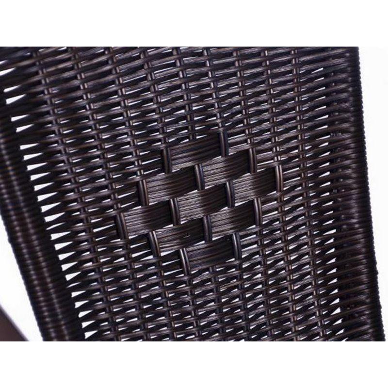 Sedie bistrot per arredamento esterno bar in polyrattan marrone