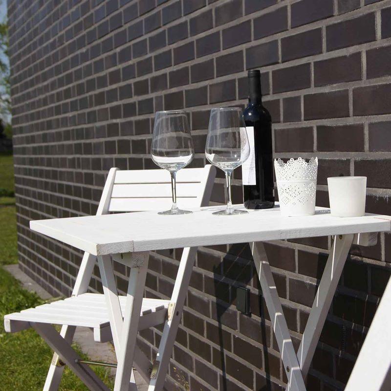 Set bistrot tavolo e sedie in legno pieghevoli verniciato for Set tavolo sedie
