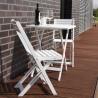 Set bistrot tavolo e sedie in legno pieghevoli verniciato bianco