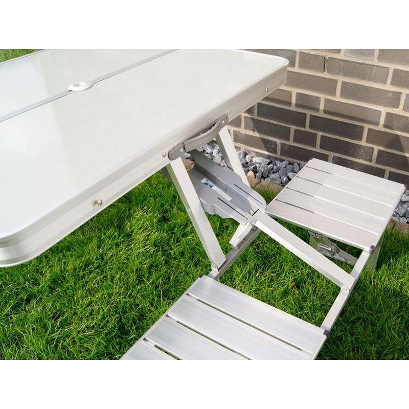 Tavolo e sedie in alluminio pieghevole per campeggio o pic nic - Tavoli pieghevoli alluminio ...