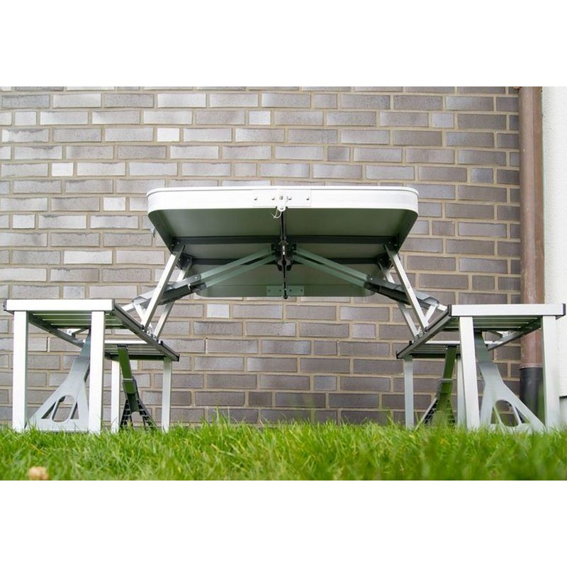Tavolo e sedie in alluminio pieghevole per campeggio o pic nic for Sedie richiudibili