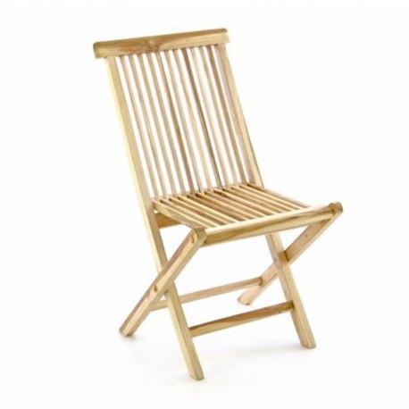 Sedie da giardino pieghevoli in legno di teak naturale
