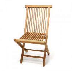 Sedie da giardino pieghevoli in legno di teak