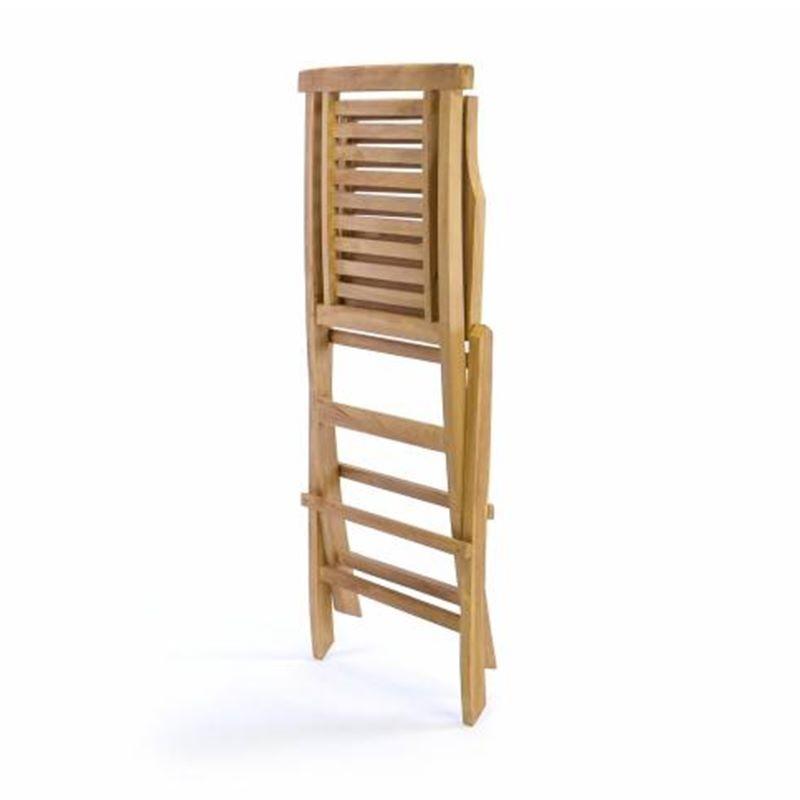 Sedie da giardino pieghevoli in legno teak for Sedie da giardino