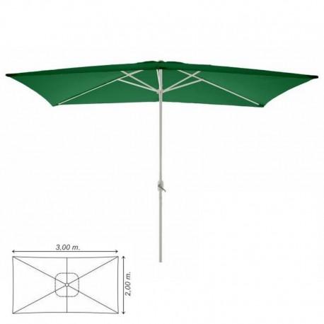 Ombrellone da giardino, terrazzo, balcone 3x2 verde