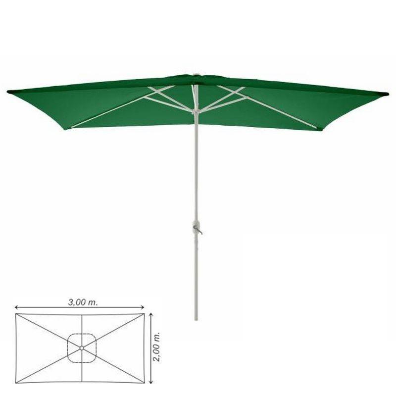 Ombrellone da giardino terrazzo balcone rettangolare 3x2 verde - Ombrelloni da giardino 3x2 ...