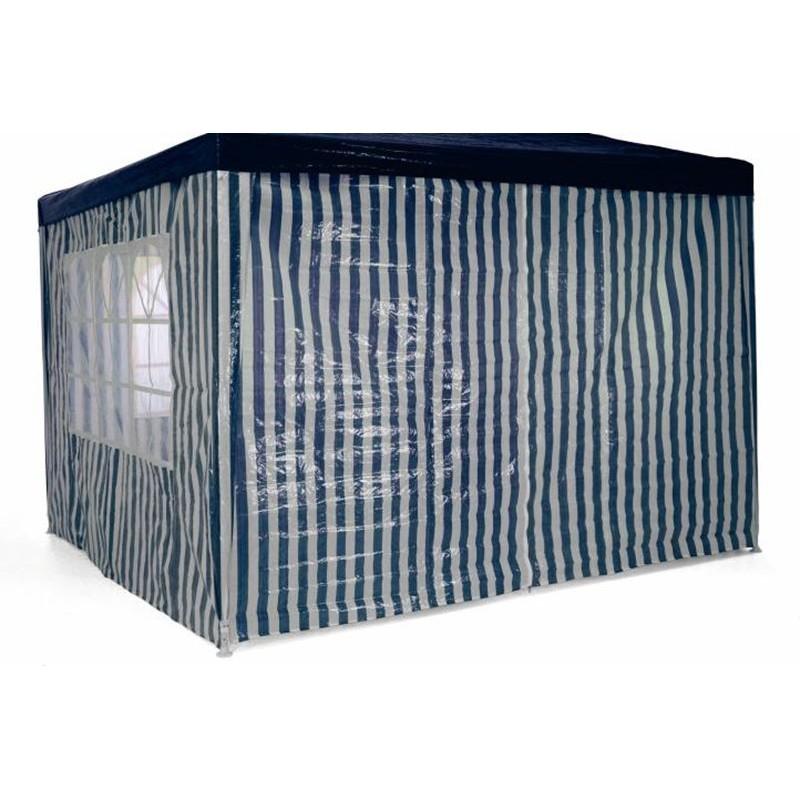 Gazebo da giardino o per campeggio 3x3 con teli laterali for Articoli x giardino