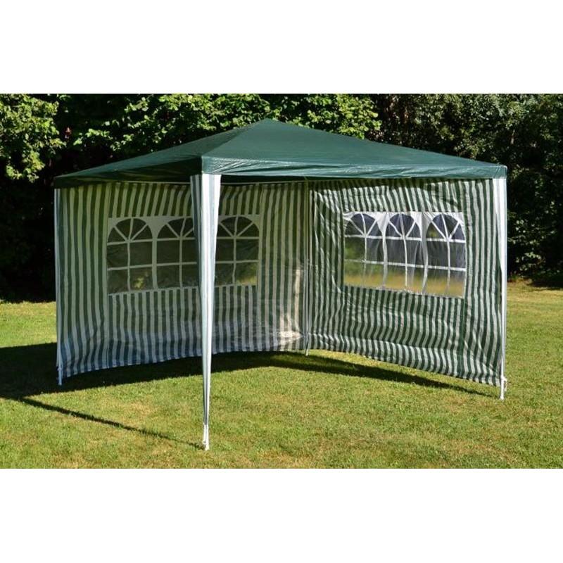 Gazebo da giardino o per campeggio 3x3 con teli laterali