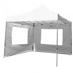 Gazebo pieghevole in alluminio per mercatini 3x3 bianco