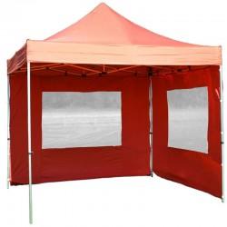 Gazebo pieghevole professionale in alluminio 3x3 arancione