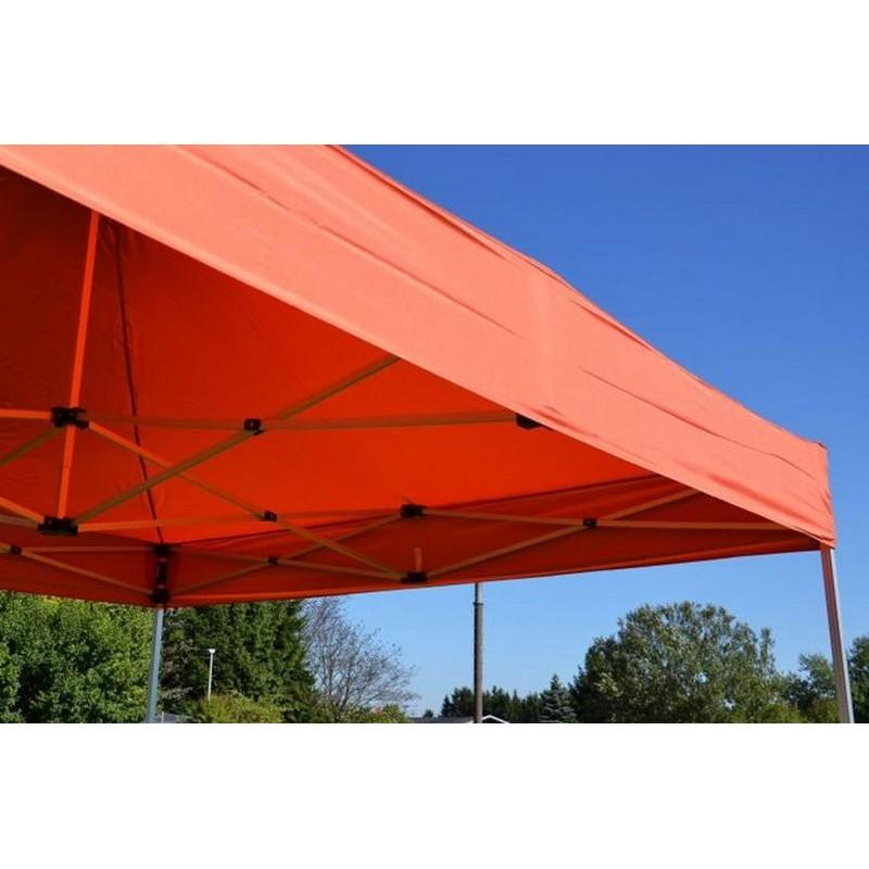 Gazebo pieghevole professionale in alluminio per fiere 3x3 arancione