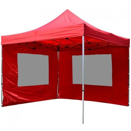 gazebo pieghevole professionale in alluminio per mercatini 3x3 rosso. Black Bedroom Furniture Sets. Home Design Ideas