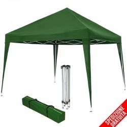 Gazebo pieghevole 3x3 per mercatini e campeggio verde