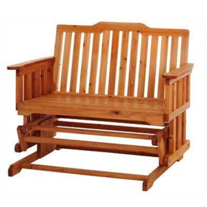 Panchina a dondolo 2 posti in legno da giardino for Cassapanche in legno per esterno