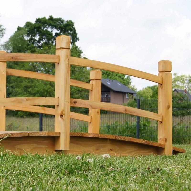 Ponticello in legno per laghetto artificiale giardino da for Animali da laghetto artificiale
