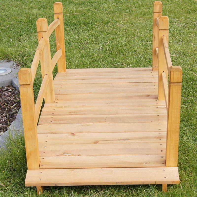 Ponticello in legno per laghetto artificiale giardino da - Legno per giardino ...