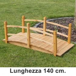 Ponticello in legno per laghetto giardino 140 cm.