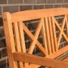 Panchina in legno da giardino a 2 posti