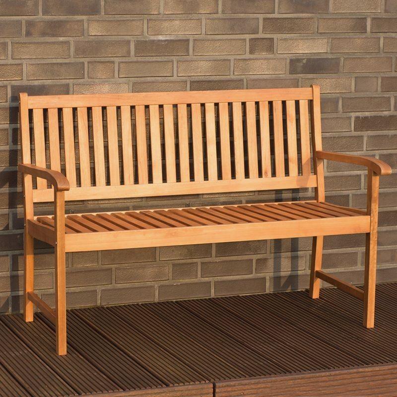 Panchina da esterno in legno 2 posti mod milano for Panchine da giardino amazon
