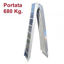 Rampa di carico in alluminio pieghevole 225 cm.