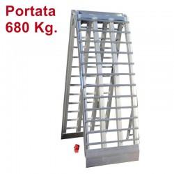 Rampa di carico in alluminio pieghevole 238 cm.