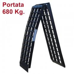 Rampa di carico pieghevole in alluminio nero 238 cm.
