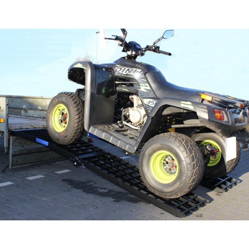 Rampa di carico pieghevole in alluminio nero 238 cm 680 kg for Rampe di carico per auto