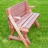 Panchina trasformabile in tavolo e 2 panche in legno da giardino